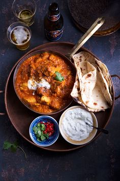 Naan, Chapati, Curry, Good Food, Food And Drink, Cooking, Ethnic Recipes, Koti, Bagels