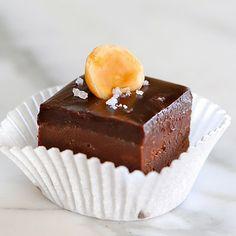 JULES FOOD...: Nutella Chocolate Fudge with Dark Chocolate Sea Salt Ganache