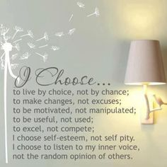 I choose ... for my girls as they go through puberty and beyond. And for me, too.
