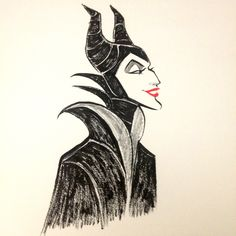 """Inktober meets the forces of evil with """"Maleficent"""" by Gabby Zapata."""