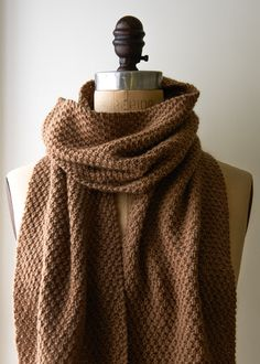 Double Seed Stitch Scarf: Maybe if you live in Cairo, a camel is not so  uncommon a thing, but for New Yorkers your best chance of getting close to  a camel ...