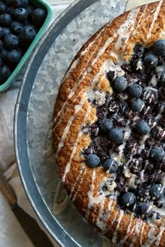 Blueberry (poppy seed) cake - I left out the poppy seeds and much of the blueberry sugar,  and added the zest of one orange. So. So. Good! Yum!