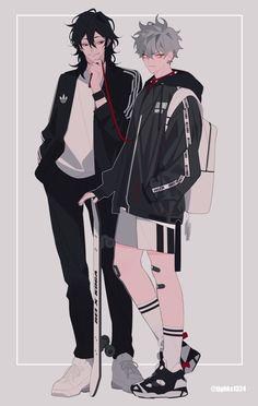 Ookami koga y Rei sakuma Boy Illustration, Character Illustration, Illustrations, Poses, Akali League Of Legends, Boy Drawing, Estilo Anime, Korean Art, Handsome Anime