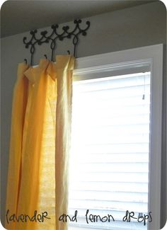 Hanging Drapes how to hang curtains without a rod - if you're looking for a