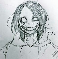 Creepy Sketches, Creepy Drawings, Dark Art Drawings, Art Drawings Sketches, Horror Drawing, Horror Art, Dark Art Illustrations, Jeff The Killer, Creepy Art