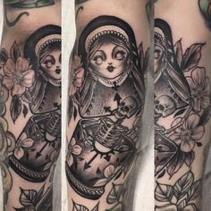 Russian Nesting Doll tattoo by @samreadtattoos at Cosmic Debris Studio in Ottawa, Canada #samreadtattoos #samread #cosmicdebrisstudio #ottawa #canada #russiannestingdolls #russiannestingdollstattoo #russiannestingdoll #russiannestingdolltattoo...