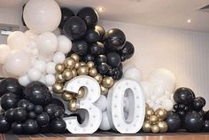 50th Birthday Quotes, Happy 30th Birthday, 30th Party, 30th Birthday Parties, Gold Party Decorations, Birthday Party Decorations, Balloons Galore, Birthday Party Photography, Balloons Photography
