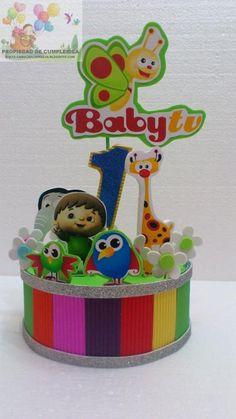 Centro babytv Fiestas Party, Ideas Para Fiestas, Baby Tv Cake, Baby Birthday, Birthday Parties, 1 Year Baby, Baptism Party, 1st Birthdays, Baby Decor