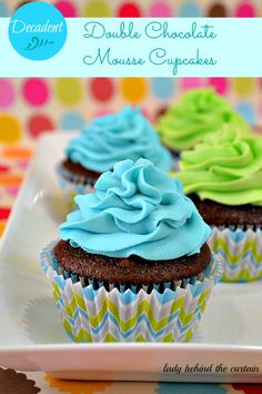 This cupcake has a wonderful light chocolate cake with a dense full dark chocolate mousse filling.  The sweet frosting balances out the dark chocolate.  The perfect cupcake for a that special someone.