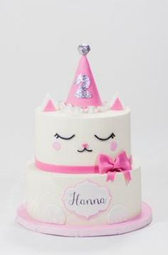 This Whipped Bakeshop custom cake was for the loveable, Hanna. Find out more about this custom cake by clicking the image! Birthday Cake For Cat, Birthday Parties, Birthday Ideas, Dog Cakes, Cupcake Cakes, Kitten Cake, Chat Kawaii, Animal Cakes, Cat Party