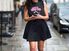 la modella mafia Barbara Martelo fashion editor street style Spring 2013 fashion week Balenciaga tee
