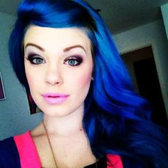 It may be ridiculous, but that is some beauuuutiful blue hair!!!  Love it!