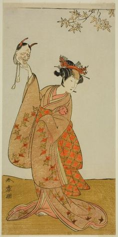 Katsukawa Shunsho: The Actor Segawa Yujiro I as Matsukaze, Sister of Togashi no Saemon, in the Play Gohiiki Kanjincho (Your Favorite Play Kanjincho [The Subscription List]), Performed at the Nakamura Theater from the First Day of the Eleventh Month, 1773 - Art Institute of Chicago
