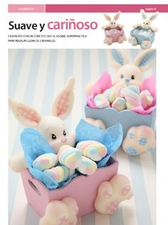 Dulceros cajoncitos conejos - Porcelana Fría