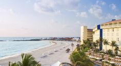 The Westin Resort & Spa Cancun Cancun Peacefully resting at the quiet end of Cancun's Hotel Zone, this luxury hotel offers private white-sand beaches with breathtaking views of the Caribbean Sea and Nichupte Lagoon.