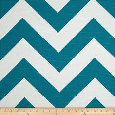 Premier Prints Zippy Chevron Slub Aquarius - large chevron panels x three behind crib Curtain Rings With Clips, Chevron Fabric, Blue And White, Yellow, Teal Blue, Premier Prints, Tapestry Design, Deep Teal, Fabric Shower Curtains