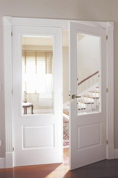 Inspirational techniques that we really enjoy! Interior Closet Doors, Double Doors Interior, Internal Double Doors, Double Entry Doors, House Doors, Room Doors, Wood Entry Doors, French Doors, Pantry Doors