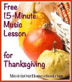 Add some musical learning to your Thanksgiving activities with this free 15 minute music lesson! Music Lessons For Kids, Music Lesson Plans, Piano Lessons, Kids Music, Music Music, Thanksgiving Songs, Thanksgiving Activities, Teaching Music, Learning Piano