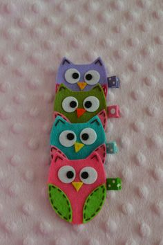 Felt Owl Clips -Gotta make these for my three princesses!