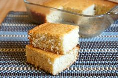 Southern-style sweet cornbread - this would be good with a big bowl of soup on this cold fall day!