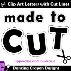 Alphabet Clip Art | Alphabet Cutting Lines - Alphabet Clip Art | Alphabet Cutting Lines A practical set of basic black letters with cutting lines to make it easy for young children to cut o...