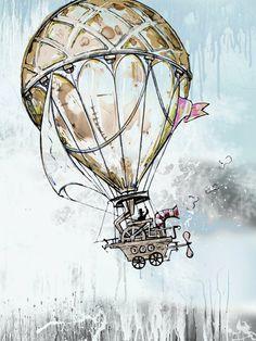 san francisco painted ladies drawing hot air balloons - Google Search