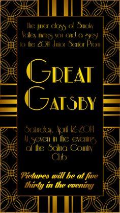 Great Gatsby Prom Invitation! YAAAAY