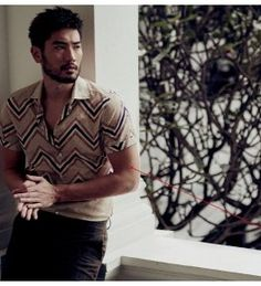 Godfrey Gao Poses for Moody Esquire Singapore Shoot