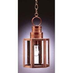 Northeast Lantern Hardwick 1 Light Outdoor Hanging Lantern Finish: Dark Antique Brass, Shade Type: Clear Seedy