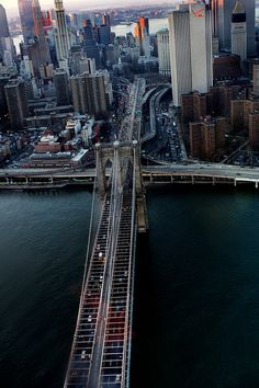 Over the Brooklyn bridge.