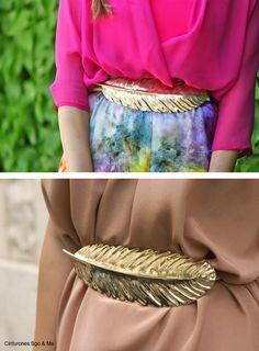 ¡PONTE EL CINTURÓN! Los dorados y plateados son los más fáciles de combinar y sirven para todo tipo de looks.
