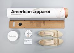 American Apparel Sustainable Shoe packaging by Roger Wang, via Behance