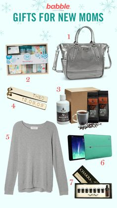 Got a new mom in your life? Pick one (or all) of these fabulous gifts for her... or yourself.