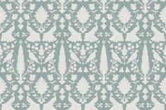 Avignon in Spa fabric... Knock off of Schumacher Chenonceau fabric / wallpaper for a fraction of the price! Comes in wallpaper and fabric and wall decal! I'm buying!