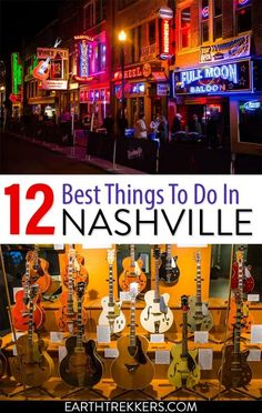 Best things to do in Nashville, Tennessee: Grand Ole Opry, Bluebird Cafe, Ryman, Honky Tonks, and the best eats in town. #nashville #tennessee #countrymusic #bluebirdcafe