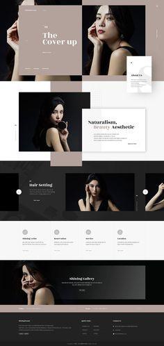 web design on Behance - Karin M - Photo Web Design Trends, Design Jobs, Web Design Websites, Site Web Design, Online Web Design, Web Design Quotes, Web Design Studio, Creative Web Design, Website Design Layout