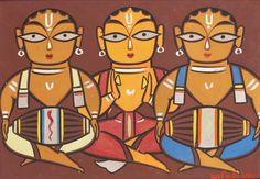 Three Musicians by Jamini Roy   Buy Posters, Frames, Canvas  & Digital Art Prints