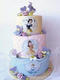 Pastel Princess Cake