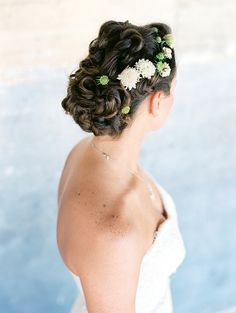 Intricate Updo with White Flowers | Fresh Bridal Beauty for Spring | Jeff Brummett Visuals