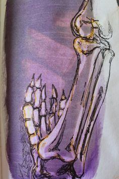 Bleach, ink and biro