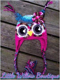 Crochet owl hat owl hat owl hat baby owl by littlewillowbowtique