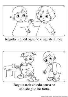 le regole scuola dell'infanzia - Cerca con Google Preschool At Home, Preschool Activities, Summer School, Sunday School, Baby Words, Learning Italian, Coloring Pages For Kids, Classroom Management, Art For Kids