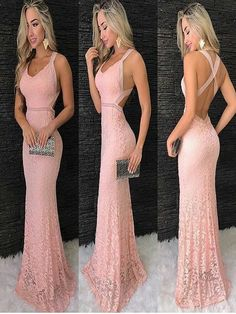 Pink Lace Prom Dresses, Shop plus-sized prom dresses for curvy figures and plus-size party dresses. Ball gowns for prom in plus sizes and short plus-sized prom dresses for Open Back Prom Dresses, Formal Dresses, Popular Dresses, Bridesmaid Dresses, Wedding Dresses, Mode Outfits, Pink Lace, Dress For You, Evening Dresses
