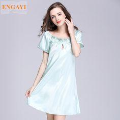 SQ022 S-4XL New Sexy Robes Bathrobe For Women Silk Satin Nightgown Nightwear High-grade Night Dress Nightdress Night Gown