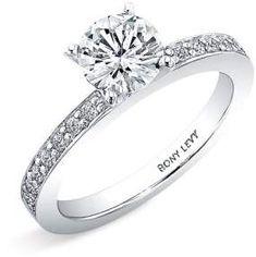 Bony Levy Channel Set Diamond Engagement Ring Setting