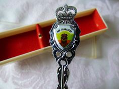 City by the Bay - San Francisco Cable Car Souvenir Spoon - Original Case - Clean Condition - No Damages - 1970's - I Left My Heart in SF by ChicAvantGarde on Etsy