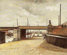 viaduct korte prinsengracht 1910 schilderij W.B. Tholen