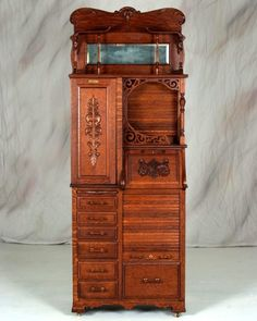 """Rare Antique Harvard Dental Cabinet made by Harvard Company of Canton Ohio, Best Of The Best Model, Made of Solid Quarter Sawn Oak, Excellent Condition, Looks to Have Been Polished 78 1/2""""h x 29""""w x 16 1/2""""d"""
