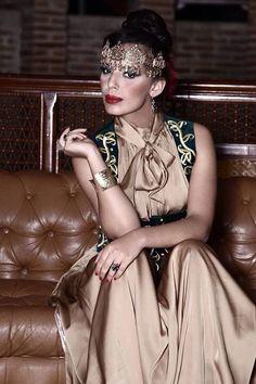 Algerian fashion: satin karakou dress