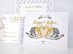 Papeterie de mariage légère comme une plume ! Collection Swan disponible sur http://printyourlove.fr. http://www.alittlemarket.com/faire-part/fr_papeterie_mariage_collection_swan_mariage_chic_elegant_moderne_cygne_original_poetique_-9668241.html Design et photographie ©Printyourlove.